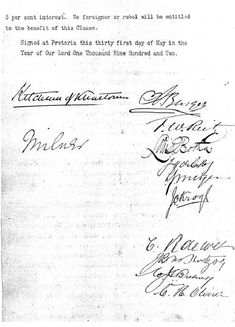In Pretoria, representatives of Great Britain and the Boer states sign the Treaty of Vereeniging, officially ending th. May 31, Protest Art, Armed Conflict, Pretoria, African History, Military History, South Africa, War, Ideas