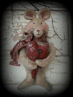 Feb 5, I just made this and put it for sale on Etsy.......Primitive Valentine Mouse Time Worn by BeeinCreativewithMis
