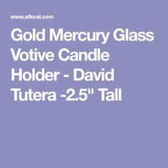 "Gold Mercury Glass Votive Candle Holder - David Tutera -2.5"" Tall"