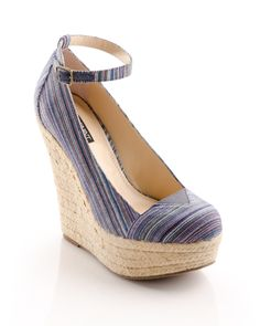 cute espadrille wedge with ankle strap