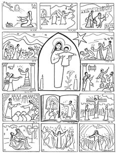 Catholic Religious Education, Catholic Kids, Idees Cate, Teaching Religion, Sunday School Activities, Bible Illustrations, Bible Coloring Pages, Bible Crafts, Bible Lessons