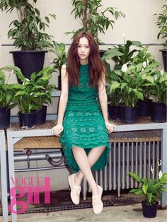 Krystal en sesión fotográfica de primavera para Vogue Girl   Soompi Spanish