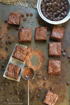 Easy Almond Flour Fudge Brownies - The perfect easy & super fudgy gluten free brownie made with almond flour meal & coconut oil. You'll never guess they're healthier made with NO butter. httplifemadesweeter.jpg