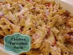 Easy Recipe: Chicken Parmesan Pasta #chickenrecipes #chickenparmesan
