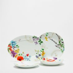 FLORAL MOTIF PORCELAIN DINNERWARE - Dinnerware - Tableware   Zara Home United States of America
