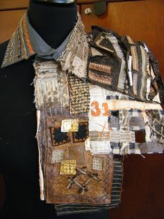 GCSE Textiles- Armour Project Diy Fabric Jewellery, Upcycled Textiles, Textiles Sketchbook, A Level Textiles, Small Sewing Projects, Textile Fiber Art, Embroidery Fashion, Fabric Manipulation, Gw