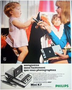 En 1969, on ne filmait pas, on enregistrait ! #philips #pub #hifi #vintage http://www.easylounge.com/marque/philips-42