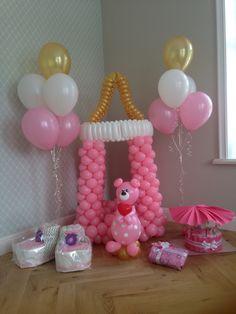 С рождением Доченьки! Общий вид Baby Balloon, Baby Shower Balloons, Baby Decor, Kids Decor, Balloon Decorations, Table Decorations, Balloon Columns, Baby Showers, Crochet Baby