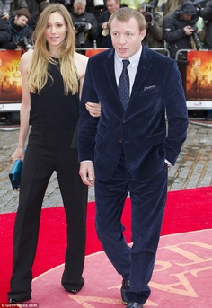 African Cats' director Guy Ritchie was accompanied by his girlfriend Jacqui Ainsley