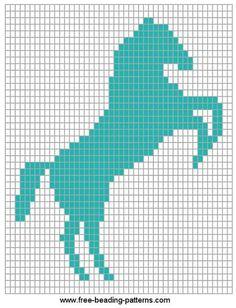 Horse Rampant beadwork design - free pattern ***I'm using this as a cross stitch pattern*** Crochet Horse, C2c Crochet, Tapestry Crochet, Crochet Chart, Cross Stitch Horse, Cross Stitch Animals, Bead Loom Patterns, Cross Stitch Patterns, Crochet Patterns