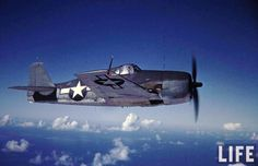 US Navy Grumman F6F 'Hellcat' over North Island, San Diego. CA, USA. 1944. In the Navy you can sail the seven seas...