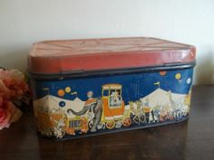 Rare VTG THE Great Animal Show Supreme Bisquit TIN Circus Litho Large Hinged BOX | eBay