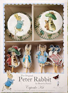 peter rabbit birthday party | Peter Rabbit Themed Childrens Birthday Party Baby Shower Cupcake Cases ...