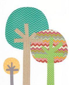 Tree Nursery Artwork Print // Baby Room Decoration // Kids Room Decoration // Gifts Under 50 on Etsy, $14.00
