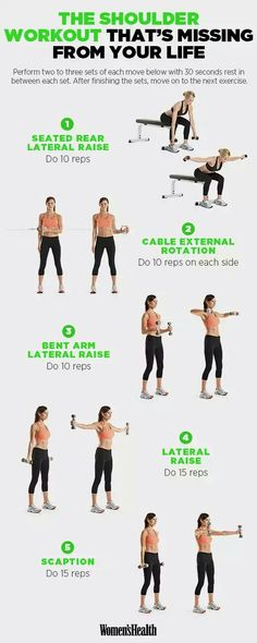 Shoulder Exercises That Will Sculpt Your Arms Like Crazy Do this shoulder workout twice a week on nonconsecutive days!Do this shoulder workout twice a week on nonconsecutive days! Fitness Hacks, Fitness Workouts, At Home Workouts, Fitness Motivation, 2 A Day Workouts, Ab Day Workout, Upper Body Workouts, Planet Fitness Workout Plan, Chest Day Workout
