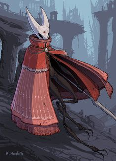 Hollow Knight - Hornet by RovingNeophyte on DeviantArt Good Knight, Knight Art, Character Art, Character Design, Team Cherry, Hollow Night, Hollow Art, Painting Process, Medieval Fantasy