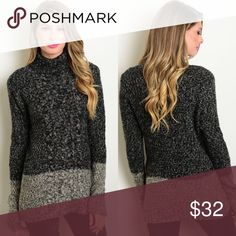 🆕 Charcoal Two Tone Turtleneck Chunky Sweater New with tags. This chunky knit turtleneck sweater features long sleeves and two tone design.                                                                                       🌸55% nylon, 38% acrylic, 7% angora.                                🌺PRICE IS FIRM UNLESS BUNDLED.                                ❌SORRY, NO TRADES. Boutique Sweaters Cowl & Turtlenecks