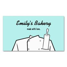 Retro Catering Bakery Pastry Chef Rolling Pin Pack Of Standard Business Cards