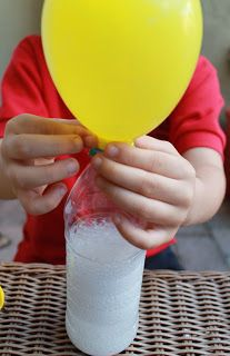 Blow It Up! Exploring Gas with Balloons, Baking Soda & Vinegar. A great way to walk though a fun science experiment with your children.