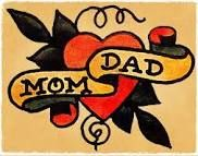 I've always wanted a vintage Mom tattoo. But I can't leave Dad out. Neither of them would want me to get it, but I will anyway!