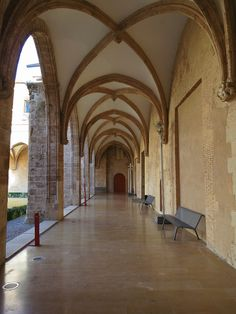 The Arcaded Galleries in the Gothic Cloister Courtyard at the Centre del Carme. Follow this link to find out more:  http://mikestravelguide.com/things-to-do-in-valencia-visit-the-centre-del-carme/