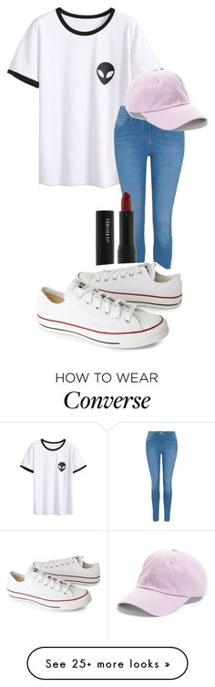 """Blend In With The Crowd"" by ogcpowerpuff on Polyvore featuring George, Forever 21, Converse and American Needle"