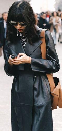 Long Leather Coat, Leather Jacket, Jackets, Women, Fashion, Leather, Black Raincoat, Gowns, Studded Leather Jacket