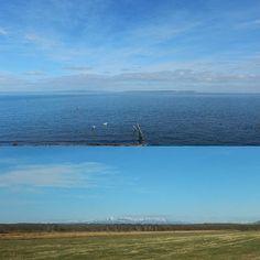 【danbayusuke】さんのInstagramをピンしています。 《2016.11.11 Friday 『標津の砂州‥野付半島と国後島 草原越しには斜里岳』  羽かヒレを広げた様な面白い形の砂州なんだが平地からだとその魅力は殆ど無いんだよね~…😅 (ドローンとかで空撮出来たらえ~よな😁💦笑)  花園とかもあるみたいで初夏にサイクリングとかしたら気持ち良さそうだ…😁 歩きで往復はシンドイのでスルーして眺めるだけ…😅 国後島と重なるポイントがあったのでそっから撮りました😊  #北海道#標津町#野付半島#国後島#斜里岳#景色#海#雪#旅 #japantour#travel#Hokkaido#Shibetsutown#Kunashiriisland#landscape#sea#sky》