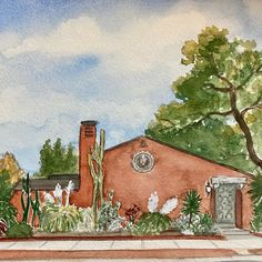 Custom house portraits in watercolor paint. Personalized Housewarming Gifts, First Home Gifts, Realtor Gifts, House Drawing, Watercolor Artwork, Custom Paint, That Way, Original Paintings, Hand Painted