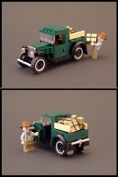 Car | Minifig-Scale | 1931 Ford Model A Pickup | by Legohaulic https://www.flickr.com/photos/legohaulic/4202111150