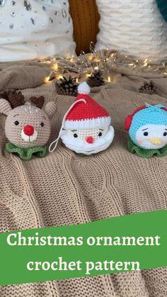 Diy Crochet Ornaments, Crochet Ornament Patterns, Crochet Tree, Crochet Christmas Decorations, Crochet Christmas Ornaments, Christmas Knitting Patterns, Crochet Gifts, Christmas Crafts, Crochet Penguin