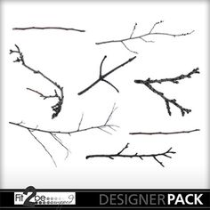 Enjoy these high quality designs by #Fit2beScrapped @MyMemoreis.com #DIgital #Creative #scrapbook #Craft #Commercial Use Branches_n_twigs
