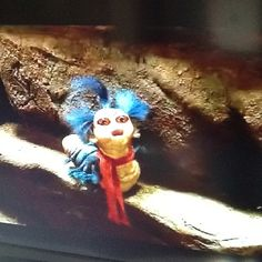 """not that way!"" worm from the labyrinth.<3"