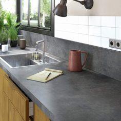 facade cuisine ilot cuisine plan de travail stratifie faire un plan carrelage plan de travail refaire recouvrir carrelage idee couleur salon cuisine