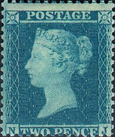Stamp: Two Penny Blue (Queen Victoria) (United Kingdom of Great Britain & Northern Ireland) (Queen Victoria - Line Engraved) Mi:GB 11 Uk Stamps, Postage Stamps, Kingdom Of Great Britain, Penny Black, Queen Victoria, Stamp Collecting, Northern Ireland, United Kingdom, Auction