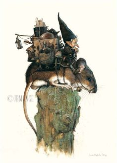 Mice are the best moving service in Gnome mans land.  Artist, Jean-Baptiste Monge