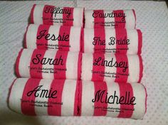 Personalized Beach Towels via Etsy for wedding party/family