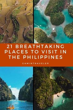 21 Breathtaking Places to Visit in the Philippines (Travel Guide) - Beauty Black Pins Philippines Travel Guide, Thailand Travel, Backpacking Europe, Beautiful Places To Visit, Cool Places To Visit, Bora Bora, Belfast, Belize, Bangkok