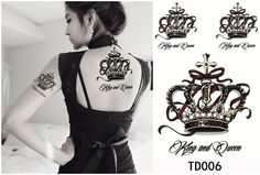 Gambling Queen And King Tattoos On Sleeve photo - 2