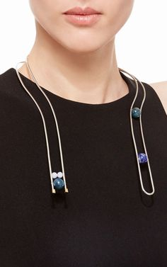 Lapis, Apatite, And Blue Lace Agate Luca Necklace by Uribe for Preorder on Moda Operandi
