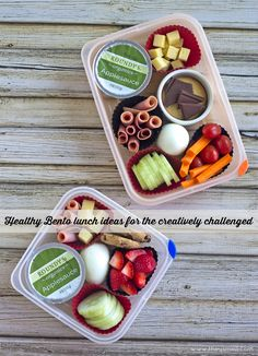 Healthy Bento Lunch Ideas to show you that you don't need fancy tools or genius creativity to create a fun and appealing bento style lunch.
