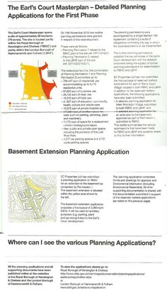 Twitter / duggiefields: SOS Earls Court detailed planning ...