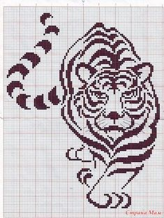 tiger I ordered my navy and orange yarn to knit a sweater with this All the black will be orange and the rest of the sweater navy Hope it works tiger I ordered my navy and orange yarn to knit a sweater with this All the black will be nbsp hellip Graph Crochet, Filet Crochet Charts, Knitting Charts, Cross Stitch Charts, Cross Stitch Designs, Cross Stitch Patterns, Crochet Patterns, Free Crochet, Cross Stitching