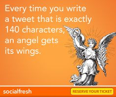 #Twitter success = 140 characters :)
