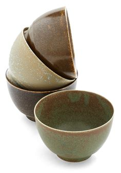 Each and Earthy Meal Bowl Set. Your meals get a bit of inspiration from the great outdoors when you set this quartet of ceramic bowls on the table! #multi #modcloth