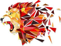 Geometrische leeuw lion drawing, baby drawing, stage background, yearbook c Geometric Artists, Geometric Lion, Geometric Drawing, Geometric Shapes, Geometric Designs, Lion Drawing, Baby Drawing, Drawing Faces, Drawing Tips