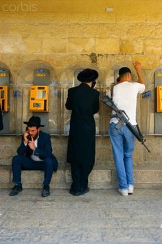 Street Scene in Jerusalem, Israel...the duality of being human and sacred..TWA
