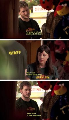 Andy keeps it real, parks n rec