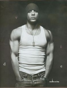 Nightclub bouncer, Taylor Villanova, was inspired by actor Vin Diesel. Look at those arms ...