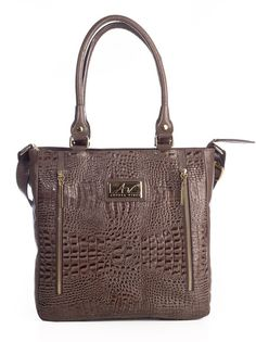 Bolsa com zíper em couro Andrea Vinci marrom - Enluaze - Bolsas, mochilas, roupas e acessórios